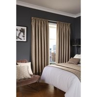 Luxury Deco Eyelet Curtains Biscuit Shard 200 x 183cm