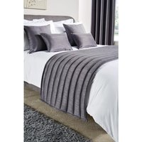 Comfort Simplicity Bed Runner Pewter Double