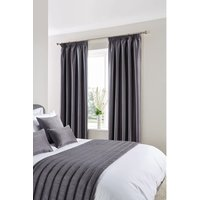 Comfort Simplicity Eyelet Curtains Pewter 137 x 152cm