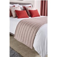 Luxury Fiorella Bed Runner Garnet Super King