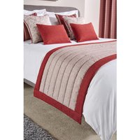Luxury Fiorella Bordered Bed Runner Garnet Super King