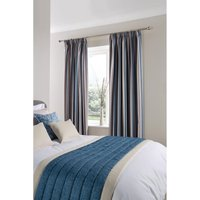 Luxury Fiorella Eyelet Curtains Indigo 270 x 183cm