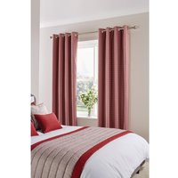 Luxury Fiorella Eyelet Curtains Garnet 270 x 152cm