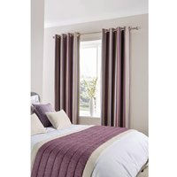 Luxury Fiorella Eyelet Curtains Aubergine 270 x 152cm