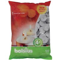 Bolsius 4 Hour Tealights (Pack of 100) Pack of 100