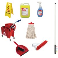 Jantex Colour Coded Cleaning Kit Red