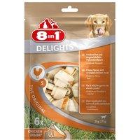 8in1 Delights Kauknochen Hähnchenfleisch im Beutel S 1x6 Stück