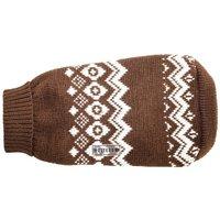 Wolters Norweger Pullover Braun/Weiß 45cm