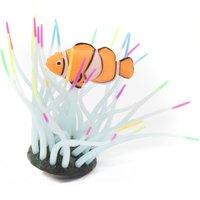 Aquatlantis Aquariendeko Aqua Glow Anemone mit Clownfisch