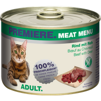 Meat Menu Adult 6x200g Rind mit Reh