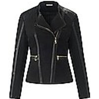 Image of Jacket in soft faux suede Uta Raasch black size: 18