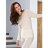 Image of Long-sleeved shirt Nina v. C. beige size: 24