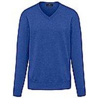 Image of V-neck jumper made of 100% premium cashmere Peter Hahn Cashmere blue size: 48