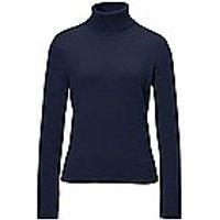 Image of Polo neck jumper in 100% cashmere design Roxy Peter Hahn Cashmere blue size: 16