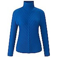 Image of Knitted roll-neck jumper long sleeves Uta Raasch blue size: 20