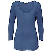 Image of Jumper in Pure cashmere in premium quality Peter Hahn Cashmere blue size: 12