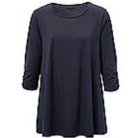 Image of Long top 3/4-length sleeves Green Cotton blue size: 16