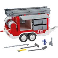 Matériel de pompiers et remorque PlayMobil