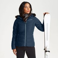Dare 2b - Womens Glamorize Faux Fur Trim Luxe Ski Jacket Blue Wing