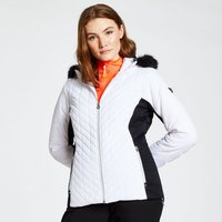 Dare 2b - Womens Icebloom Luxe Faux Fur Trimmed Quilted Ski Jacket White