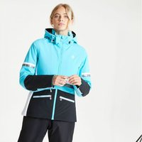 Dare 2b - Womens Evidence Waterproof Insulated Hooded Ski Jacket Azure Blue Black