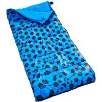 Maui Kids Polyester Lined Sleeping Bag Oxford Blue Print
