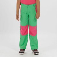 Kids Sorcer Mountain lll Lightweight Walking Trousers Island Green Hot Pink