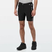 Mens Mountain Walking Shorts Black Magnet Grey