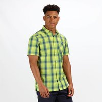 Men's Kalambo IV Short Sleeve Checked Shirt Lime Punch