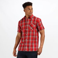 Men's Kalambo IV Short Sleeve Checked Shirt Classic Red