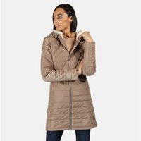 Womens Parmenia Insulated Quilted Hooded Parka Jacket Natura