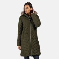 Womens Fritha Insulated Quilted Parka Jacket Dark Khaki