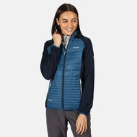 Womens Anderson V Hybrid Insulated Quilted Hooded Walking Jacket Blue Opal Navy