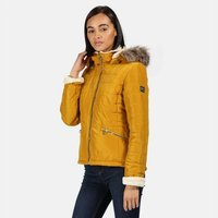 Womens Charna Insulated Diamond Quilted Jacket Mustard Seed