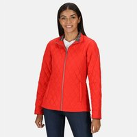 Womens Charna Insulated Diamond Quilted Jacket True Red
