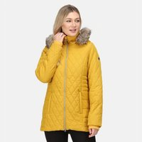 Womens Zalika Insulated Quilted Jacket Mustard Seed