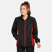 Womens Athens Tracksuit Jacket Black Classic Red