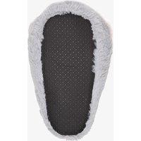 Grijze pantoffels voor dames van thu!s. gemaakt van textiel, een zachte voering van textiel en een stevige ...