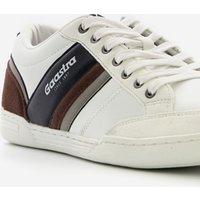 Witte sneakers voor heren van gaastra. gemaakt van imitatieleer, een binnenwerk van textiel en een stevige ...