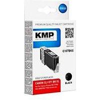 KMP C107BKX - Hohe Ergiebigkeit - Schwarz - compatible - Tintenpatrone (Alternative zu: Canon CLI-571BKXL, Canon 0331C001)