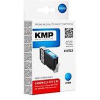 KMP C107CX - Hohe Ergiebigkeit - Cyan - compatible - Tintenpatrone (Alternative zu: Canon CLI-571CXL, Canon 0332C001)