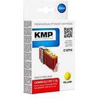 KMP C107YX - Hohe Ergiebigkeit - Gelb - compatible - Tintenpatrone (Alternative zu: Canon CLI-571YXL, Canon 0334C001)