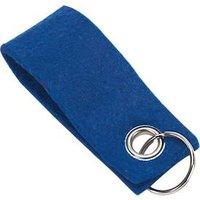 Schlüsselanhänger, aus Filz, Werbeanbringung einfarbig möglich, L 90 x B 35 mm, blau