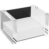 WEDO Zettelbox , acryl exklusiv, , glasklar/schwarz