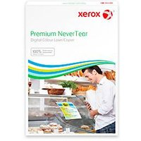 Xerox Premium NeverTear Quick Menu Tent Card, A4, 145 µm, weiß, einfach faltbar, 100 Blatt