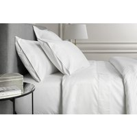Sheridan 1000tc luxury cotton flat sheet - snow / double