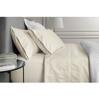 Sheridan 1000tc luxury cotton fitted sheet - chalk / double 38cm