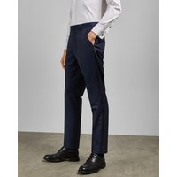 Pashion Wool Dinner Suit Trousers, Dark Blue