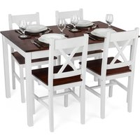 Christow White Pine Dining Table & Chairs Set