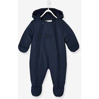 Pramsuit with Double Opening, for Babies dark blue